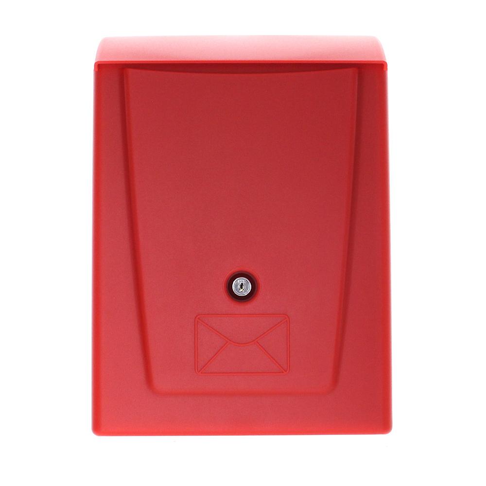 Cutie Poștală Plastic Rottner Posta Încuietoare Cilindrică Neagră/Rosie